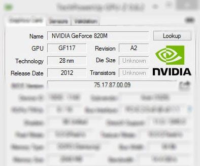 Overclocking GPU Notebook NVIDIA GeForce 820M – Jagat OC