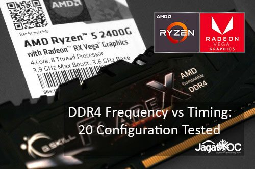 Amd Ryzen 5 2400g Radeon Rx Vega 11 Ram Overclocking Frequency Vs Timing Jagat Oc