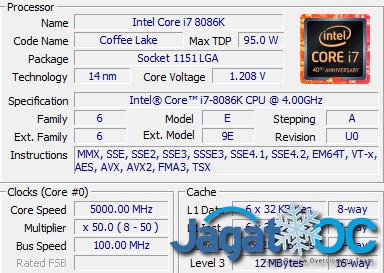 Intel Core i7-8086K Extreme Overclocking @ 7 3Ghz (on MSI