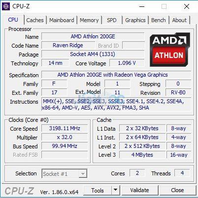 Overclocking AMD Athlon 200GE di MSI B450M Pro-VDH (CPU Multiplier