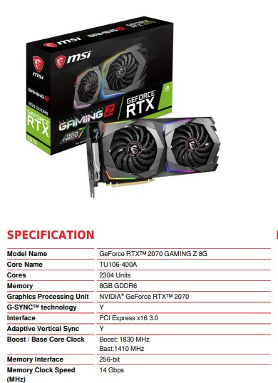 Analisis & Overclocking : MSI GeForce RTX 2070 Gaming Z 8G