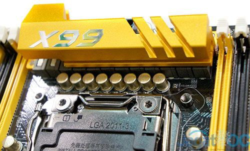 Heatspreader yang digunakan, tertuliskan X99 diatasnya
