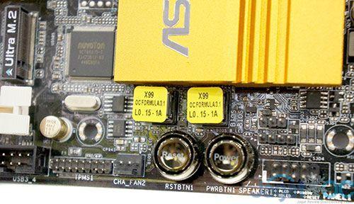 Motherboard ini memberikan beberapa fitur seperti yang terlihat: dual BIOS, Button ON/Reset, dan sebuah M.2