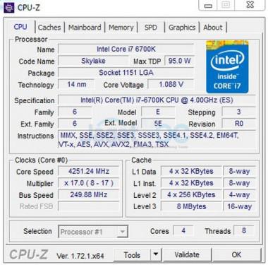 BCLK 250 6700K
