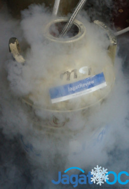 10 Liter LN2 sisa - let's freeze the Skylake!