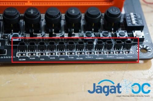 Voltage Check Point pada Gigavyt Z87X-OC