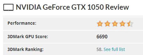 2 3DMarkScore GTX1050 2GB