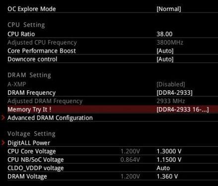 Overclock CPU RAM