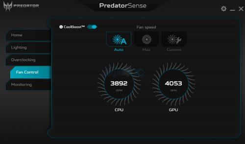 PredatorSense 4A FanCoolBoost ONs