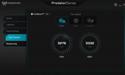 PredatorSense 4B FanCoolBoost OFFs