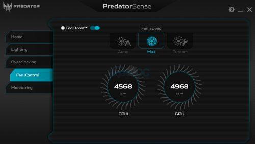 PredatorSense 4C Fan MAXs