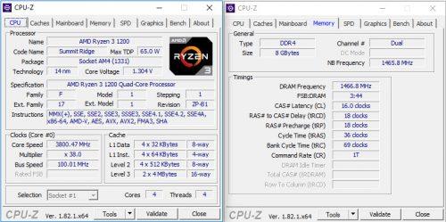 Ryzen3 1200 OC3800
