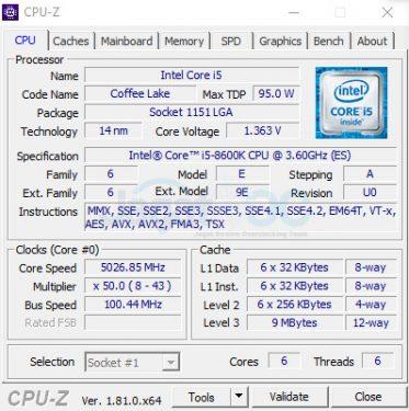 Setting CPU 5Ghz