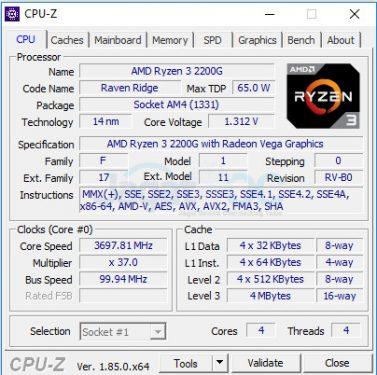 3 2200G CPUz