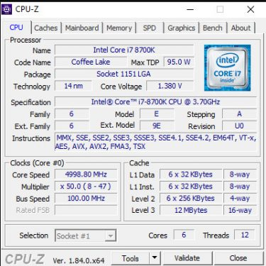 8700K 5Ghz