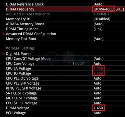 SniperX 3600CL19 BIOS OC