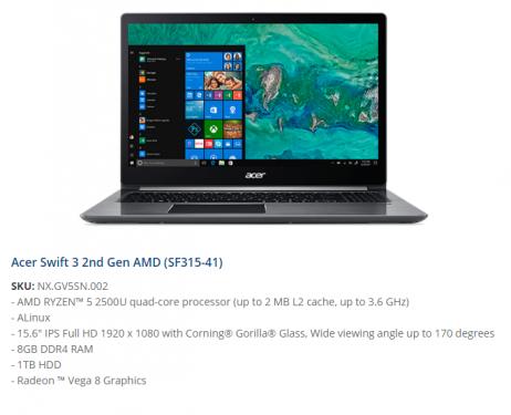 Acer Swift3 1