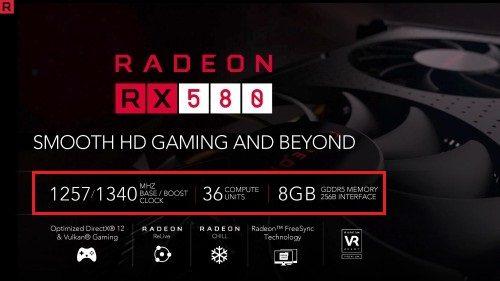 RX580 Spec