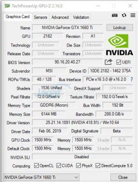 GTX1660TI 1 Screenshot 393A GPUZ1