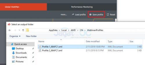 RadeonVII OC OC setting 4 SaveProfile