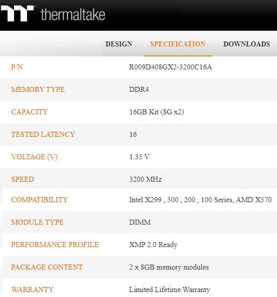 TT ToughRAM Specs Web