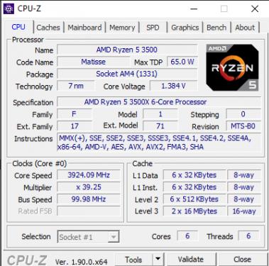 3500X CPUz
