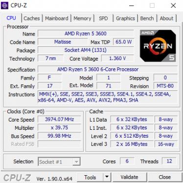 CPUZ 3600