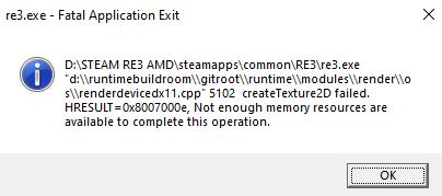 RE3 Error Memory