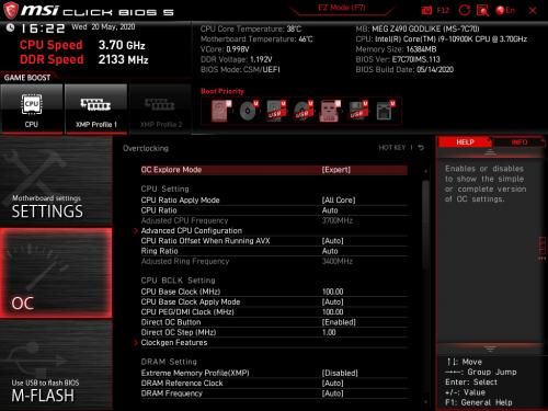 Z490 GODLIKE BIOS 02