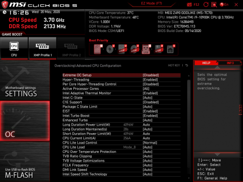 Z490 GODLIKE BIOS 06