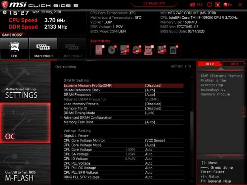 Z490 GODLIKE BIOS 07