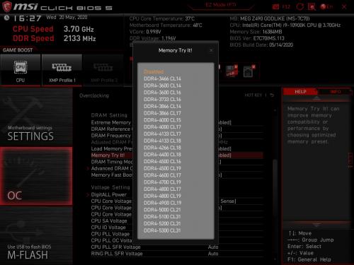 Z490 GODLIKE BIOS 09