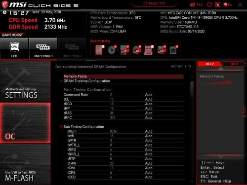 Z490 GODLIKE BIOS 10