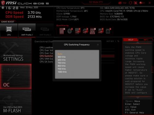 Z490 GODLIKE BIOS 13