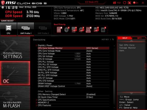 Z490 GODLIKE BIOS 15