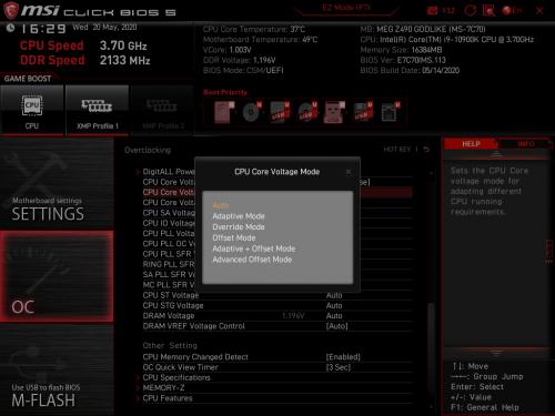 Z490 GODLIKE BIOS 17