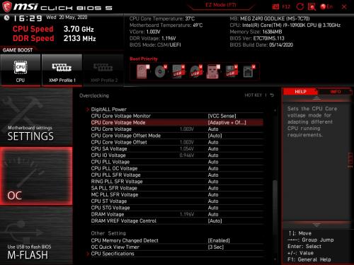 Z490 GODLIKE BIOS 18