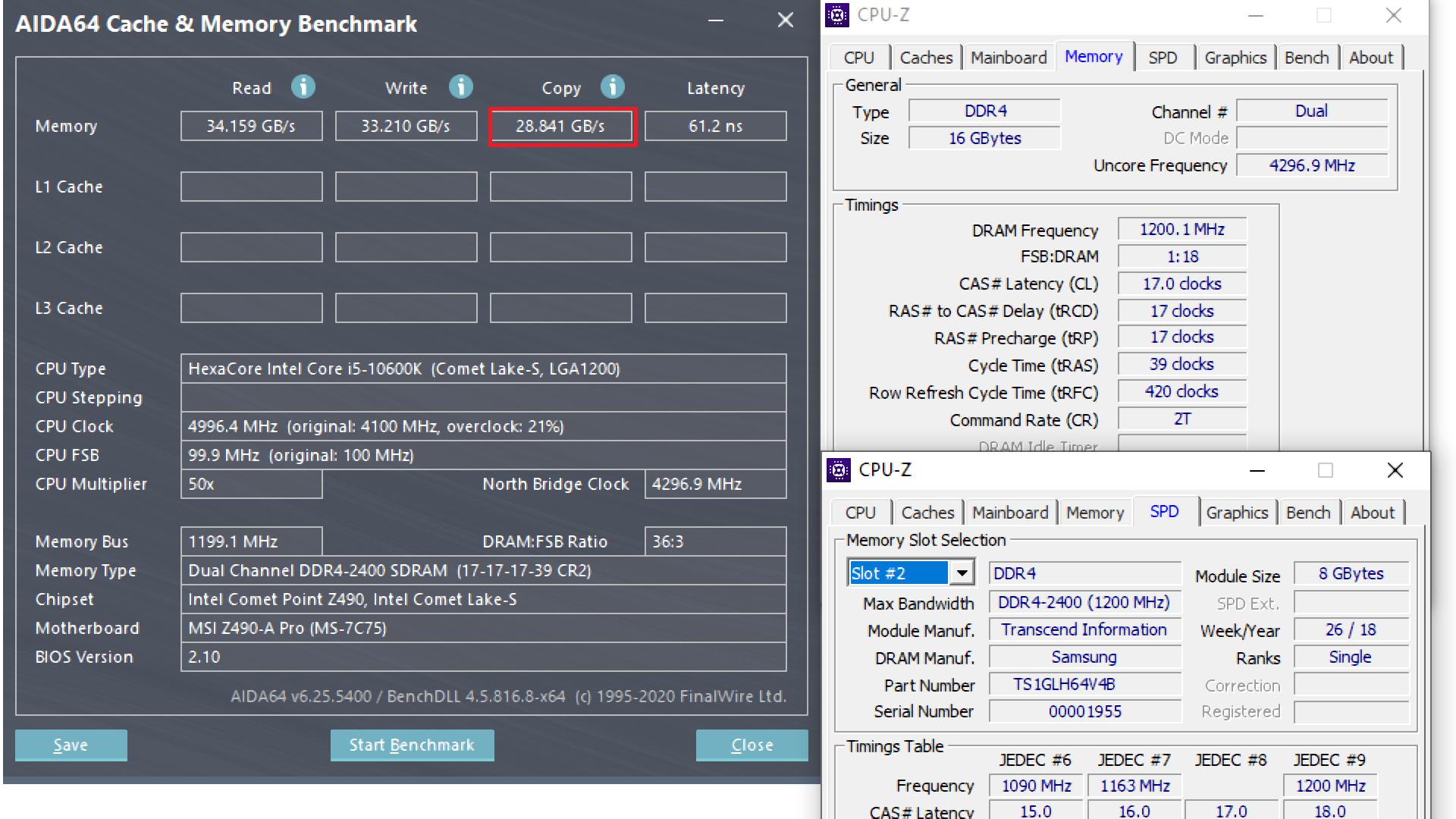 10600K RAM DEF