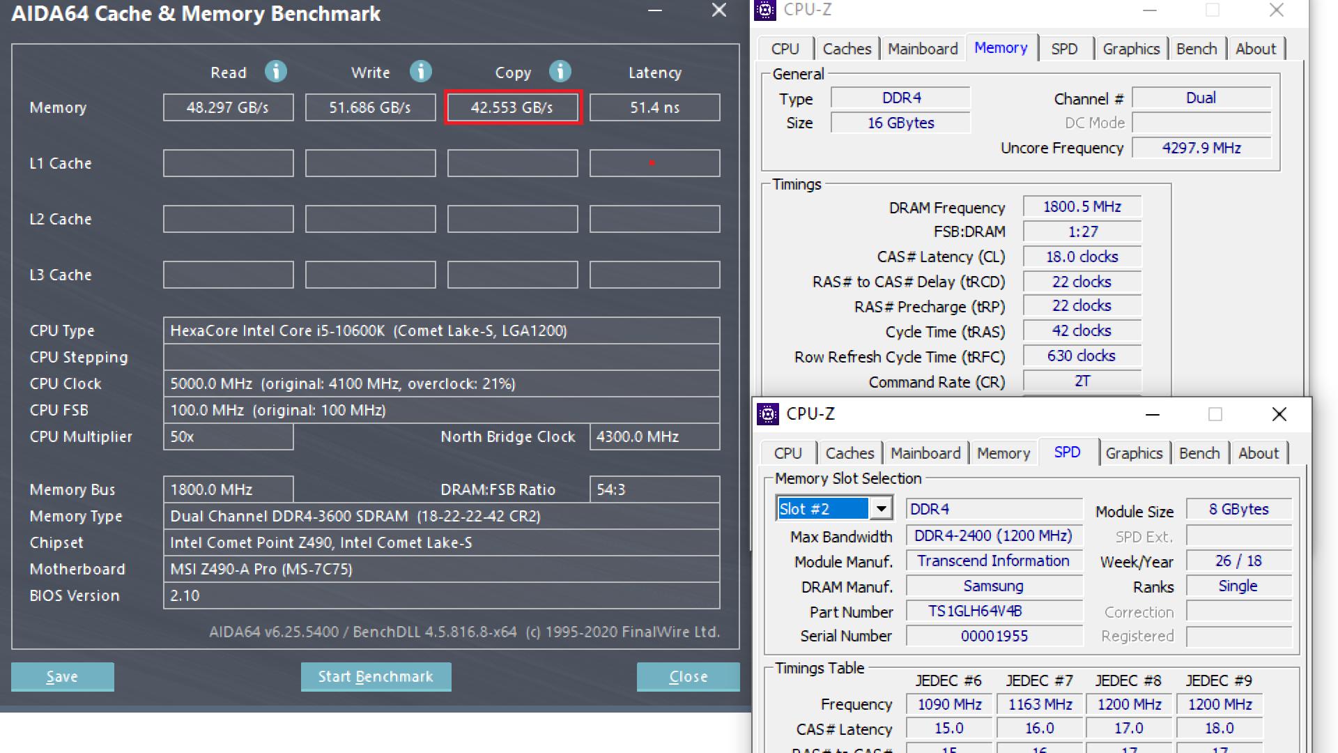 10600K RAM OC