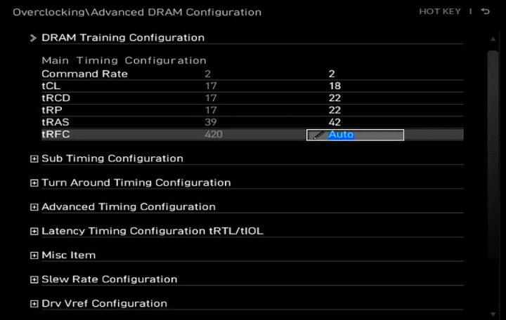 BIOS RAM TIMING