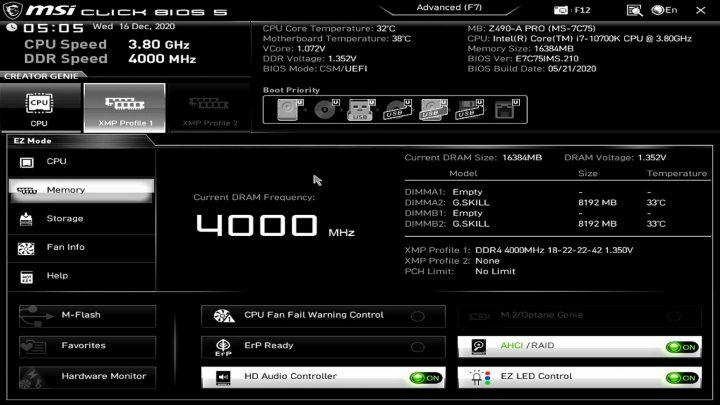 XMP BIOS